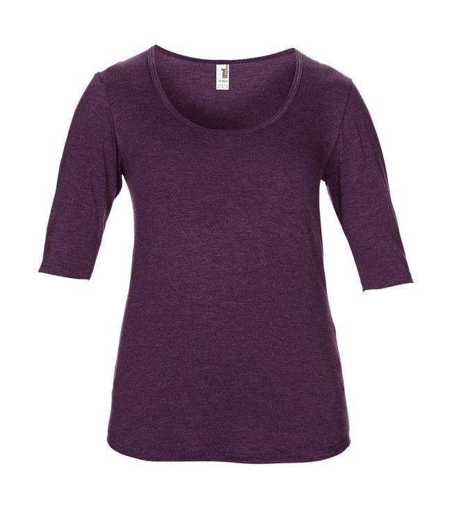 fc6cc11961ea Dámske tričko Tri-Blend s hlbokým výstrihom - www.reklamnetricka.sk