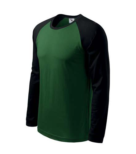 Pánske tričko Street LS 130. 8.71 €. Kvalitné pánske tričko vysokej gramáže  s dlhým raglánovým rukávom. Módny úzky lem v priekrčníku a rukáv je u  farebných ... 54f3835751a